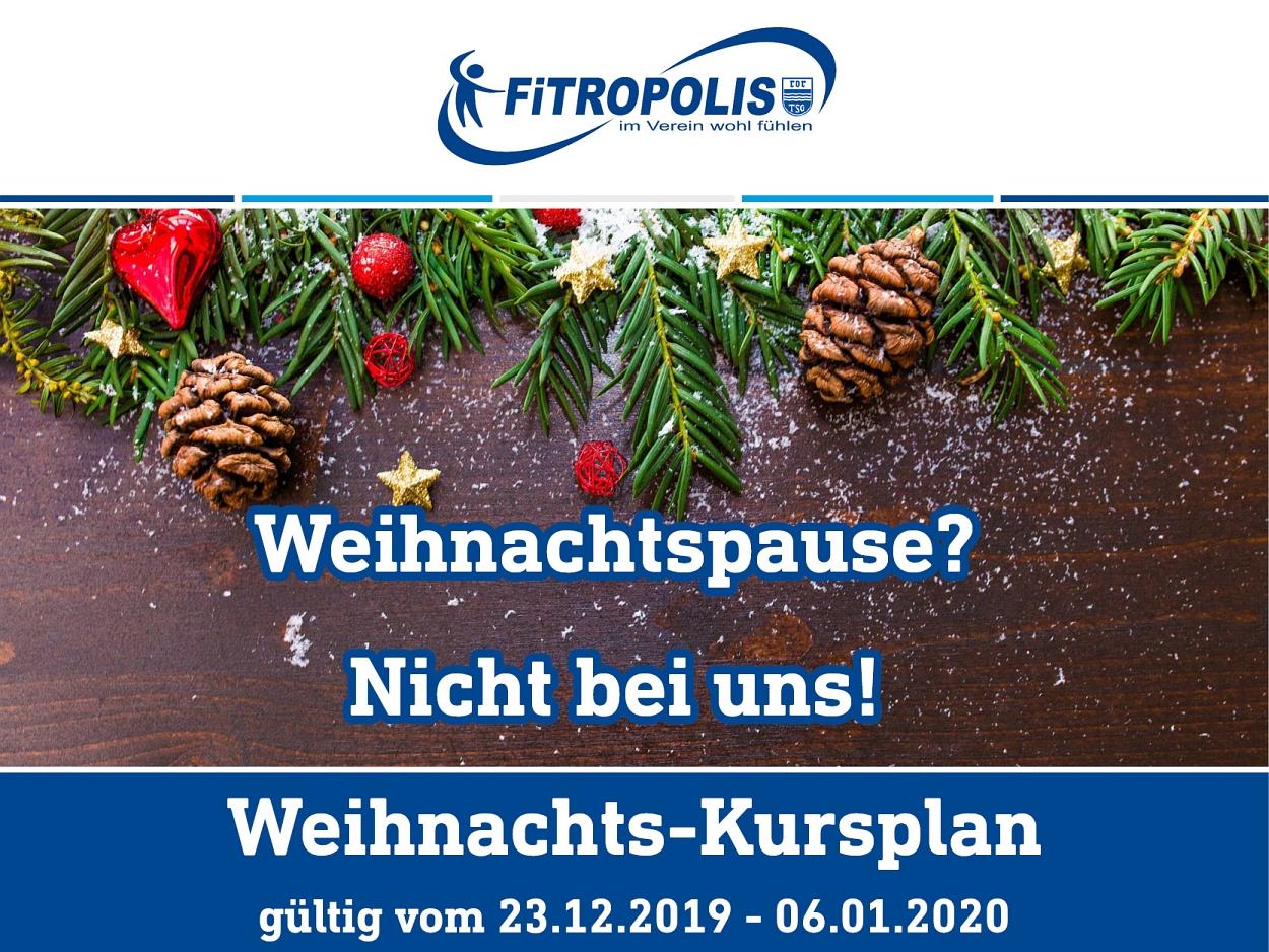 Weihnachtskursplan FiTROPOLIS
