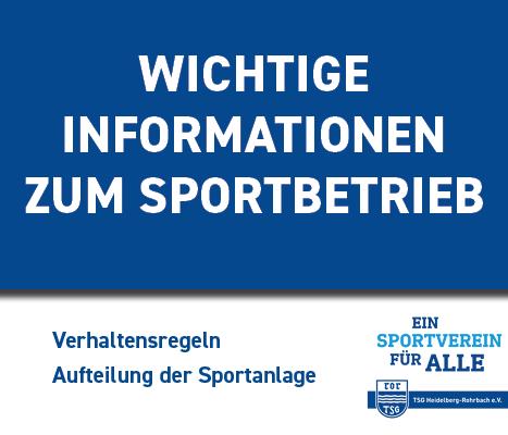 Wichtige Infos Zur Wiederaufnahme Des Sportbetriebes