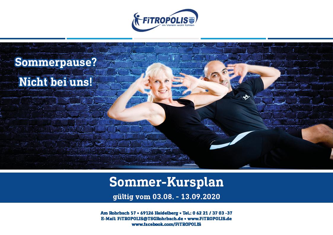 Sommer-Kursplan Fürs FiTROPOLIS Steht